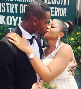 Yewande weds Gbolahan today 26th February 2015 at the Registry. A very Big congrats to them. More pics from the wedding...