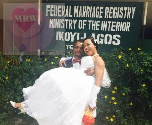 Samuel okon tied the knot with his beautiful wife today Friday February 6th at the Ikoyi Registry.Big congrats to them! See more pics from the wedding after the cut...