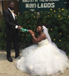 Samuel Osadolor tied the knot with Iyobor today 12th February 2015. Happy married life to the couple.