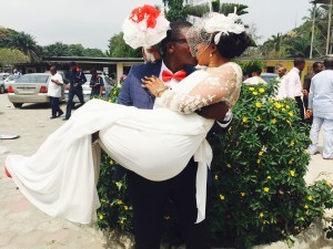 Ike ufele today 12th February 2015 married the love of his life Nkechi. A very Big congrats to them.More pics from the wedding after the cut...