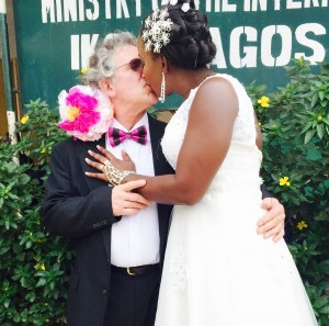 Sarah weds Steve Waite on 13th February 2015 at Ikoyi Registry. A very Big congrats to the couple. May God bless their union. See more pics from the wedding after the cut....