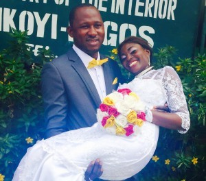Yewande married her heart-throb Owolabi Today 12th March 2015 .