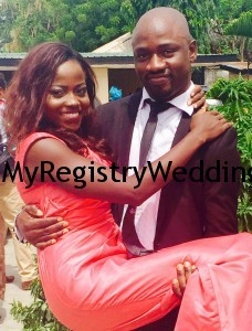 Funmi say I do to Bernard Today 19th March 2015 at the Marriage Registry. Happy married life.