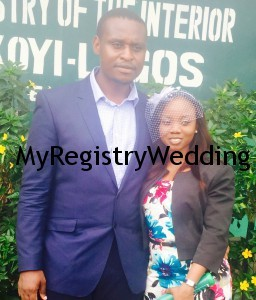 Francis takes Munachiso as his legal wife today 25th March 2015.