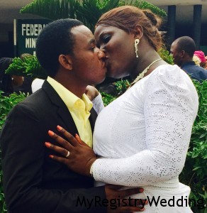 Damilola and Adeleke Legalise Their Union today 5th March 2015 at the Ikoyi Registry. Wishing them love and happiness on your special day. More pics from the wedding...