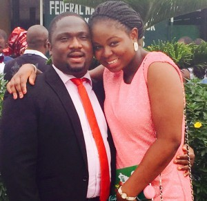 Tayo and Dare Lawal obelaws Legalise their Union today 11th March 2015 at the Ikoyi Registry. A very Big Congrats to them.