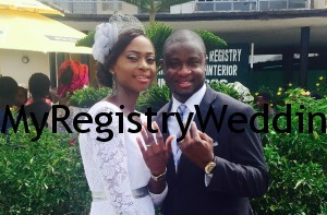 Yinka Wed Micheal on the 10th of April 2015. Wishing them an unending joy and happiness in their Union.