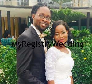 Funmi wed Abel today 1st April 2015. Wishing them s fruitful Union.