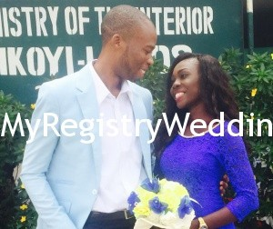 Laura and Francis tie the knot on the 8th of May 2015 at Ikoyi Registry. Wishing you unending joy and peace in your Union