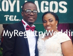 Oludamilola and Razak Onagbesan tie the wedding knot at the registry on the 19th of June 2015. See more pics from the wedding after the cut...