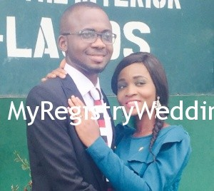 Funmi gets married to Adetunji today June 25th 2015 at the Ikoyi Registry. Wishing a glorious marital life. See more pics after the cut...