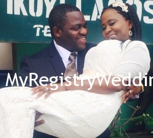 Kehinde weds her sweetheart at the ikoyi registry today 26th June 2015. May their union be filled with unending joy and Peace.