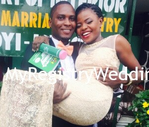 Adenike tie the knot with her sweetheart Ayorinde on the 17th of September 2015 at the Registry. Wishing them unending joy and happiness .