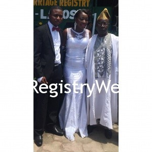 Couple with Bride's Dad