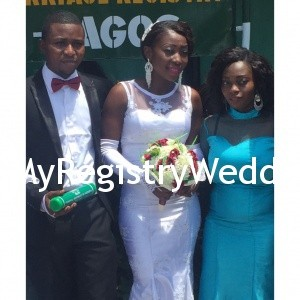 Couple with Bride's sister