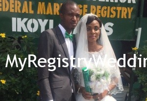 Ope walk down the aisle with Ade on the 13th of November 2015. Wishing them lots of joy and happiness in their union.