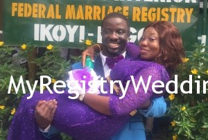 Abigeal and Samuel get joined as husband and wife at the Ikoyi Registry on the 20th of November 2015. See more pics after the cut...