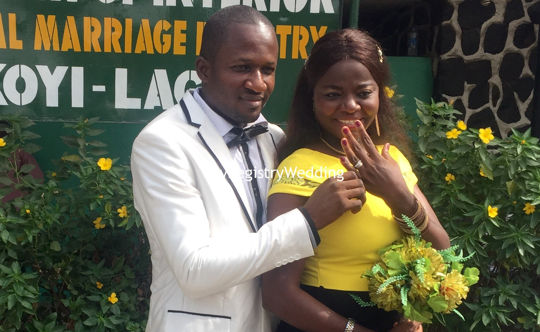 Amaka And Kevin Enyi Tie The Knot At The Registry Myregistrywedding