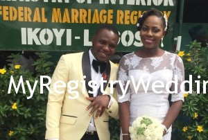 Dorcas say I do to Damilola on the 3rd of December 2015 at Ikoyi Registry. Wishing them many blissful years ahead. See more pics after the cut...