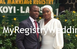 Aminat married the love of her life Abiodun on the 4th of December 2015. May God bless their union. See more pics after the cut...