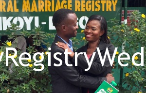 Yewande marries Idowu on the 4th of February at Ikoyi Registry. See more pics after the cut...