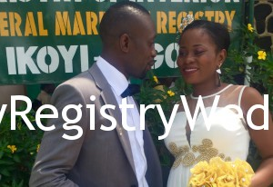 Aisha and Kazeem had their Registry wedding on the 11th of March 2016. May God bless their union