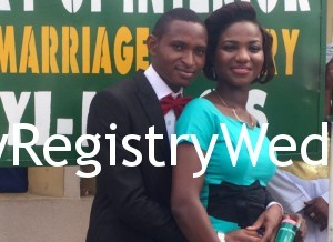 Ifeoluwa and Oluwatosin legalize their union at the Registry today 3rd March 2016.