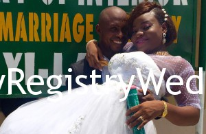 Tosin and Femi take their marriage vows on the 17th of March 2016 at Ikoyi Registry.