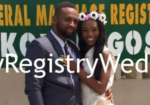 Benita vowed to cherish Samuel forever on the 4th of March at the Registry. Wishing the couple many blissful years ahead.