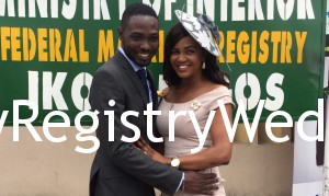 Beautiful Modupe ties the knot with Ayoade on the 10th of March 2016.