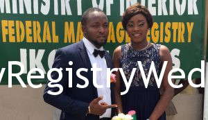 Bolanle Tie The Knot With Kareem At The Marriage Registry