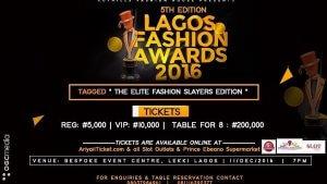 Lagos fashion awards 2016