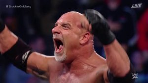 Goldberg defeats Brock Lesnar