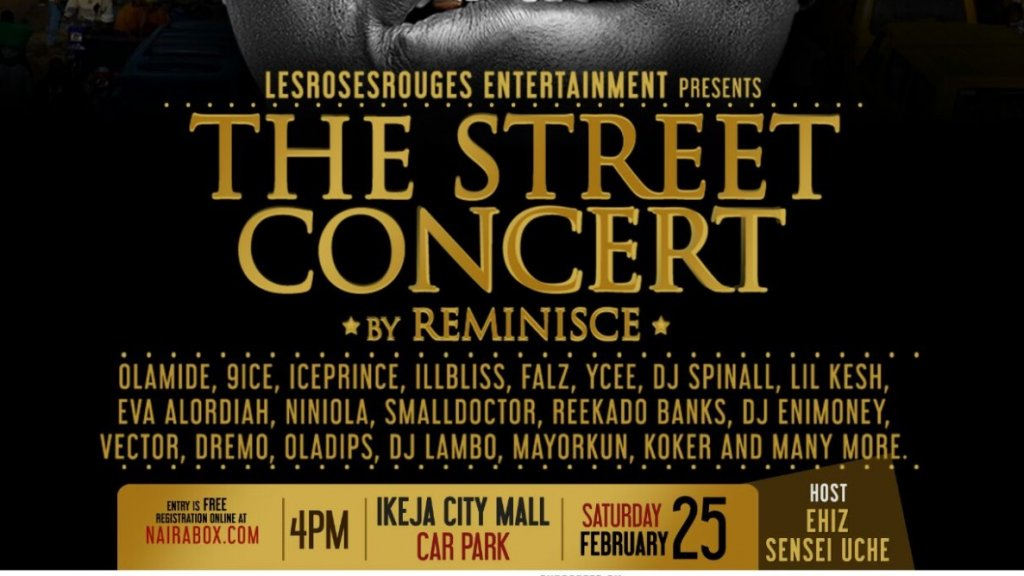 The street concert by Reminisce On the 25th of February 2017