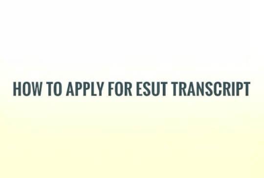Esut Transcript Application